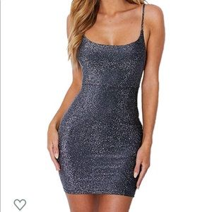 Glitter Spaghetti Strap Dress